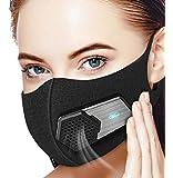 Beeasy Elektrische Maske,Staubmaske Mundschutz HEPA N95 Atemschutzmaske Waschbar Für Outdoor-Sportarten,Gartenarbeit,Reisen,Handwerker widerstehen Staub,Keimen,Allergien,PM2.5,Verschmutzung,Pollen usw