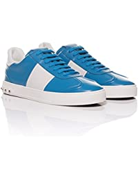 1f751bc5c626 Valentino Open Silver Striped Leather Sneakers · £352.00 · Valentino -  Leather Flycrew Sneakers