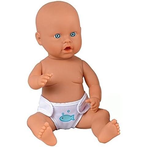 Dolls World - Bambola lavabile con pannolino per il cambio dopo il bagnetto