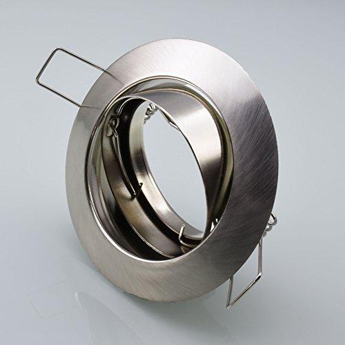 Einbaustrahler 104S-TP Einbaulampe Einbauleuchte Spot Einbauspot GU10 Eisen Gebürstet Einbauspot