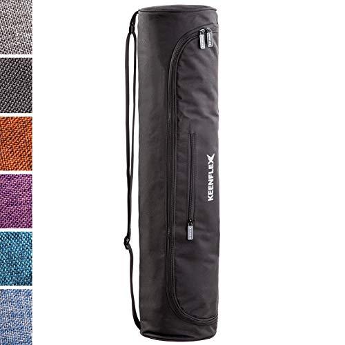KeenFlex Yogatasche - Tasche für Yoga Matte - Wasserdichtes Gewebe - Komfortabel und Leicht (Schwarz)