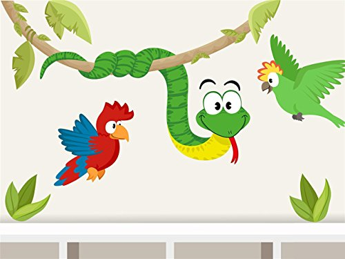 wandtattoo-schlange-papagei-afrika-dschungel-wandaufkleber-fur-kinderzimmer