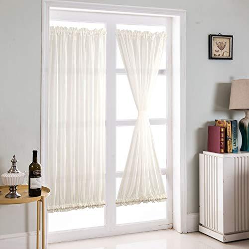 JIANGSN Wärmeisolierter Verdunkelungsvorhang Verdunkelungsvorhang für Fenstertüren, Sichtschutz-Türvorhang/Vorhang, 46 x 63 Zoll (1 Paneele),Whiteyarn,54 * 72in
