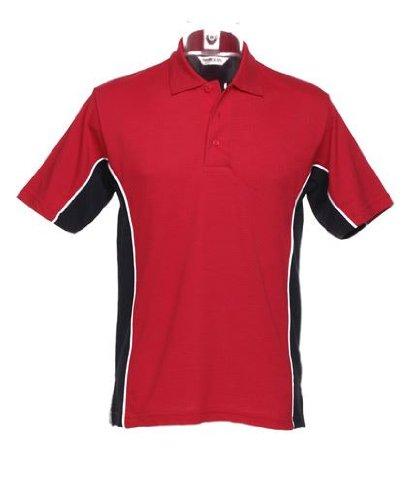Kustom KitHerren Poloshirt - Red/ Navy/ White