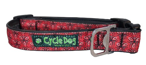 (Cycle Dog Hundehalsband, Flasche Öffner recyceltem, rot Tri, Stil, mittel)