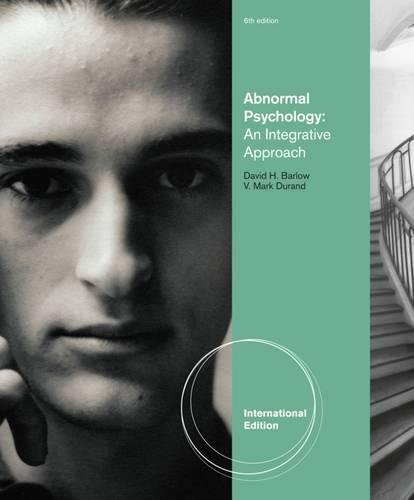 Abnormal Psychology: An Integrative Approach, International Edition (with CourseMate Printed Access Card)