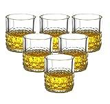 YYCDD 6-teiliges Weinglas, bleifreie Kristallglasbecher Haushalt hitzebeständig Wasserbecher Whiskey Glas Bar Weinglas, C_230ml