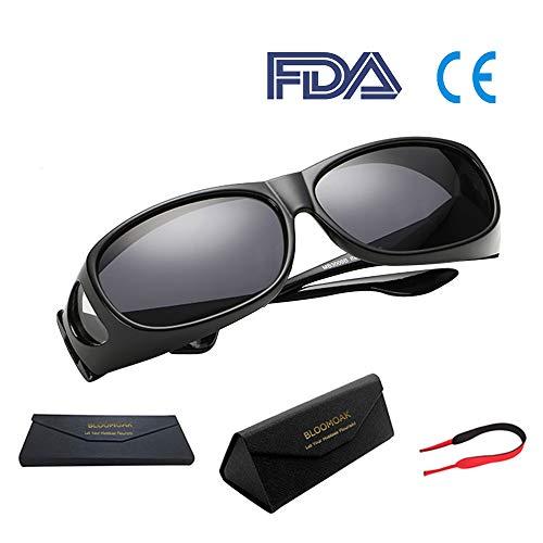 Bloomoak Wear über Brille - für Frauen / Über Brille / Fahren / Blendschutz / UV 400 Schutz