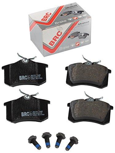 BRC Car Service BRK2705 Kit PASTIGLIE Posteriore Freni A Disco, Set di 4