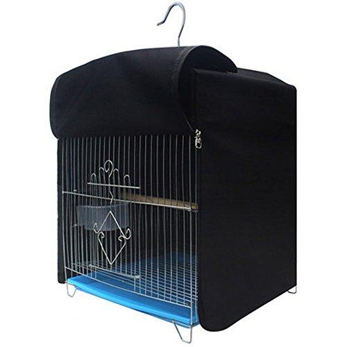 Cubierta para Jaula de Pájaros de Forma Cuadrada Resistente a la luz, poliéster Resistente al Agua, Cubierta de Parrot Canario con Doble Cremallera HZC81