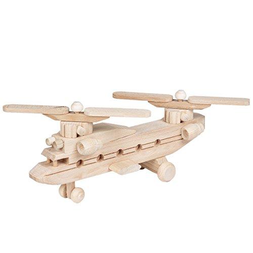Hubschrauber Lastenhubschrauber Holz Spielzeug Helikopter