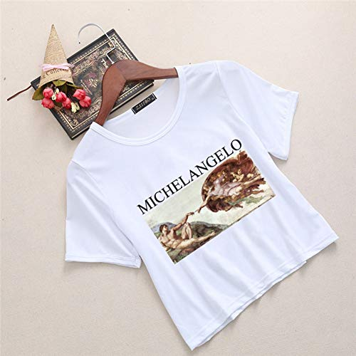 lo Sistin T-Shirts Frauen Harajuku Ästhetischen Kawaii Femme Hemd Casual Crop Shirt T Womens T Shirt ()