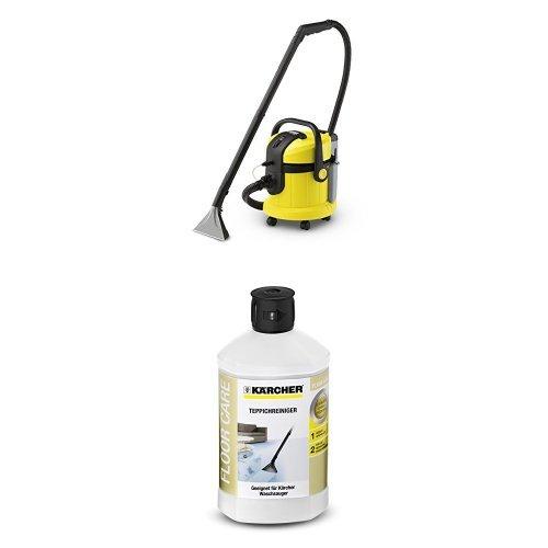 Kärcher Teppichbodenreiniger + Kärcher Teppichreiniger (flüssig, RM 519, 1 Liter)