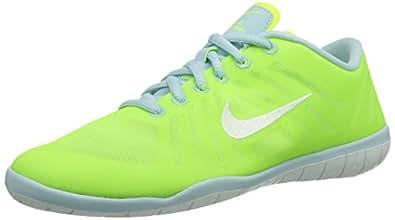 Nike Free 3.0 Studio Dance, Chaussures de sports extérieurs femme - Vert (Volt/White-Antarctica), 40.5 EU