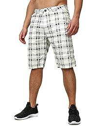 T-Traxx Homme Bermudas ISLAR À carreaux Motif Lumière Pantalon Été