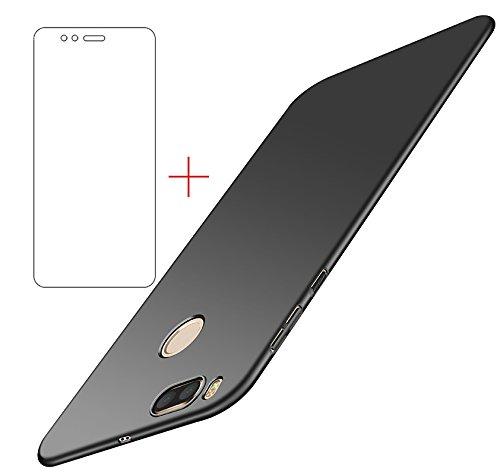 Funda Xiaomi Mi A1/ Xiaomi Mi 5X , UCMDA Xiaomi Mi A1 Carcasa con [Protector de Pantalla de Cristal Templado] [Ultra-Delgado] [Ligera] Anti-rasguños Estuche para Case Xiaomi Mi A1/ Xiaomi Mi 5X- Negro