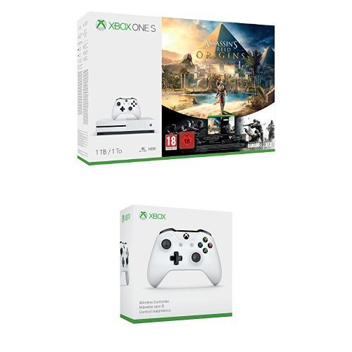 Pack Xbox One S 1 To Assassin's Creed Origins & Rainbow Six : Siege + 2ème Manette