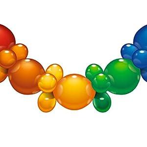 Guirnalda de globos Susy Card 40011691 con arcoíris, 25 unidades. , Modelos/colores Surtidos, 1 Unidad