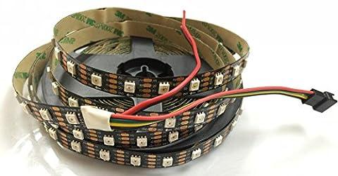 Led Streifen-Lichter 16.4Ft 5M 60 Pixel / M Schwarzes PCB Nicht-wasserdichte IP20 APA102 (500 Pixel Weihnachten)