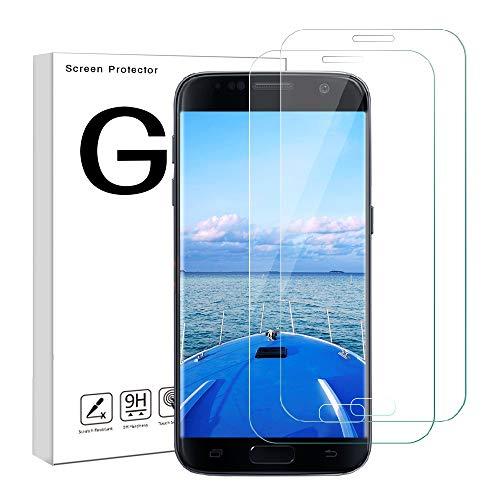 Etmury Galaxy S7 Panzerglas Schutzfolie, Galaxy S7 Displayschutzfolie, 9H Härtegrad Panzerfolie Displayschutz Anti-Kratzer,Klar Glatt, Anti-Fingerabdruck, Gehärtetem Glass für Galaxy S7