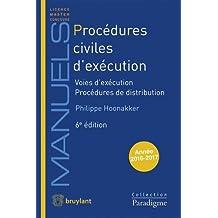 Procédures civiles d'exécution : Voies d'exécution ; Procédures de distribution