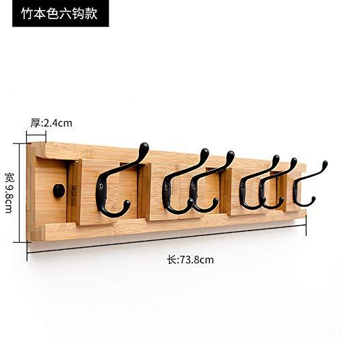Joeesun Kleiderhaken Aufhänger Wand hängen kreative Tür zurück Mantel Haken Haken Wand Veranda hängen Haken abnehmbare Holz Farbe 6 Haken -
