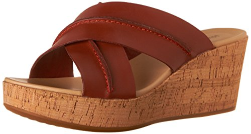 Hush Puppies Women's Belinda Durante Platform Sandal, Dark Orange Leather, 10 M US Dark Orange Leather