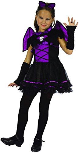 maus Kinderkostüm schwarz-lila 128/134 (8-9 Jahre, L) (Süße Vampir Kostüm)