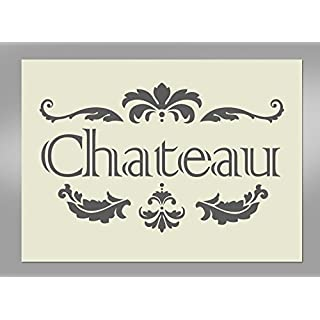 Shabby Chic Chateau Paris Mylar Stencil A4 297x210mm Wall Art, Furniture Stencil, Fabric Stencil