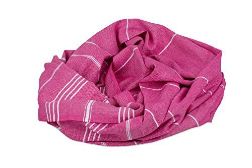 JuliJu Pestemal Fuchsia - auch fürs Hunde-Bett oder Katzen-Bett geeignet sowie als Haustier-Decke in der Hundetransportbox oder auch als Reisedecke oder Kuscheldecke für Ihren Liebling