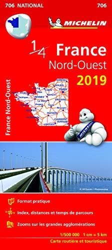 Carte France Nord-Ouest Michelin 2019 par Michelin