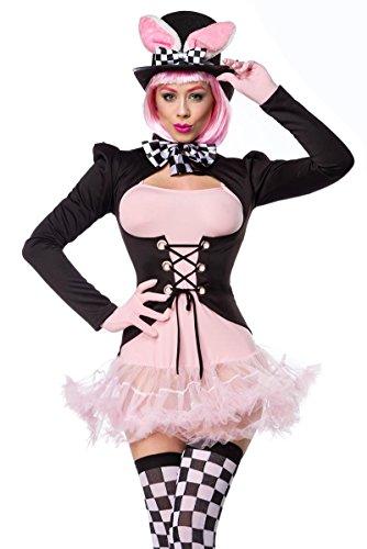 (Atixo Pink Rabbit Kostümset - schwarz/weiß/rosa, Größe Atixo:L)