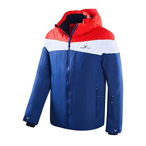 Black Crevice Herren Ski- und Snowboardjacke, rot/weiß/Navy, 50 -