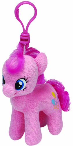 Carletto Ty 41103 - My Little Pony Clip - Pinkie Pie, Plüschtier, 10 cm