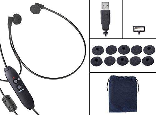 Spectra-adapter (Spectra USB PC Stereo Transkription Kopfhörer mit extra 5 Paar Antimikrobielle Ohrkissen)