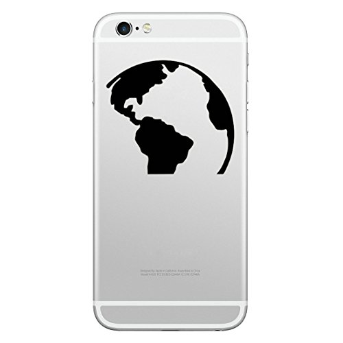 cker für iPhone 8 & 8 Plus iPhone 7 & 7 Plus, iPhone 6s & 6s Plus, iPhone 6 & 6 Plus / Aufkleber / Decal / Welt / Weltkarte / Atlas ()
