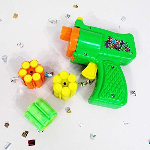 Konfettipistole Party Popper mit 6 Schuss