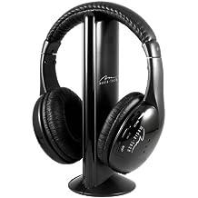 Media-Tech MT3525 - Auriculares de diadema cerrados inalámbricos (con micrófono, control remoto integrado, USB),
