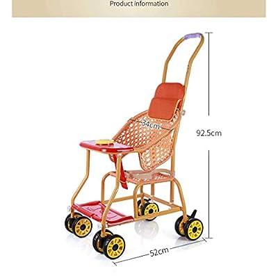 Kinderwagen leichter und einfacher Kinderwagen aus Bambus und Rattan