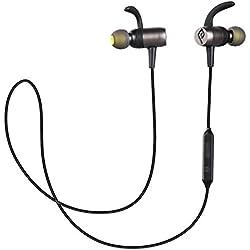 Auriculares Bluetooth Magnético, Parasom A10 Auriculares Bluetooth 4.1 Cascos inálambrico Deportivos, Sport Headphone para Correr,Trotar compatible con iPhone, Ipad, Samsung Galaxy, Note, Huawei, Xiaomi (Negro)