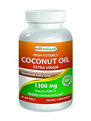 Best Naturals Extra Virgin Coconut Oil 1300 mg 90 Softgels by Best Naturals