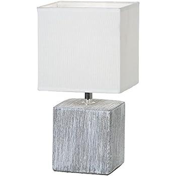 Lampe Et Céramique Gris Chevet Abat En Pied De Avec Jour Tissu b6gYf7y