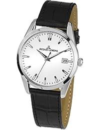 Jacques Lemans Unisex-Armbanduhr  Analog Quarz Leder 1-1769D