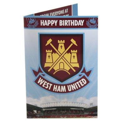 West Ham United FC Glückwunschkarte mit Ton -