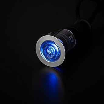 Faretti LED RGB, 10 pezzi, con telecomando, diametro 25 mm, cromato