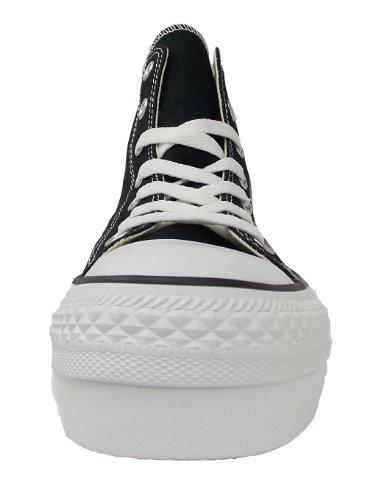 Converse Chuck Taylor All Star Femme Platform Hi, Baskets mode femme Noir