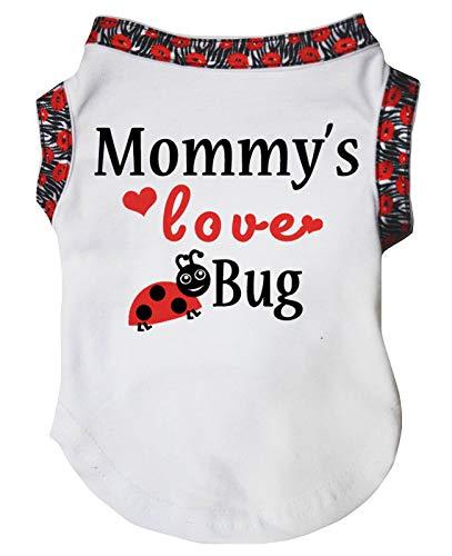 Petitebelle Mommy's Love Bug Hundehemd, Baumwolle, Weiß -