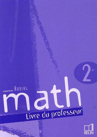 Math 2e : Livre du professeur