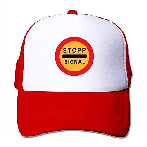 Rundafuwu Stop Signal Traffic Road Street Mesh Unisex Snapback Baseball Trucker Hats Personality Caps Hats