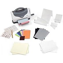 Sizzix Texture Boutique Embossing Maschine Starter Kit, weiß/grau